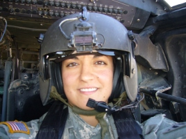 Lindsey Melki flying in Iraq